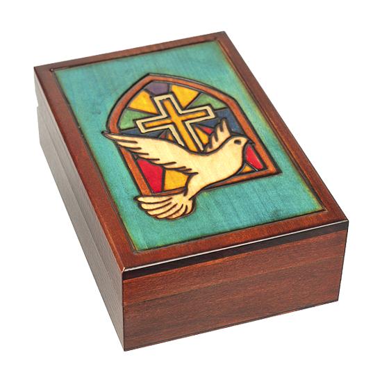Dove Window 2 - Polish Wooden Box