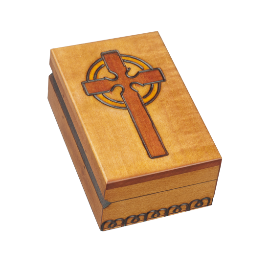 Cross of Light - Polish Wooden Box