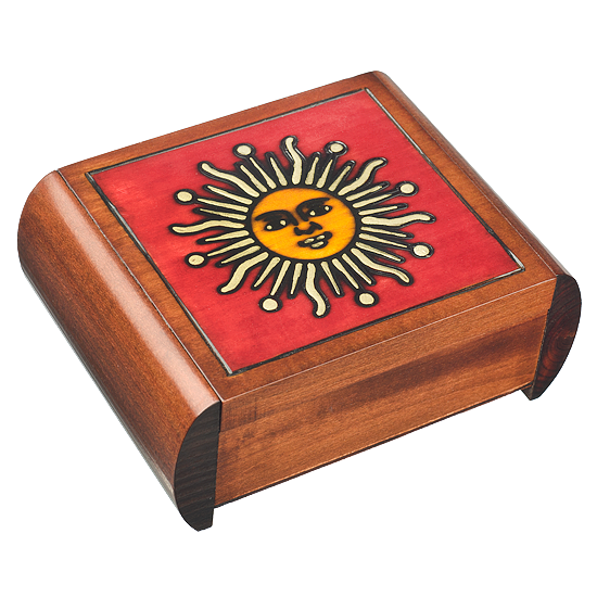 Alchemist Sun Secret - Polish Wooden Box