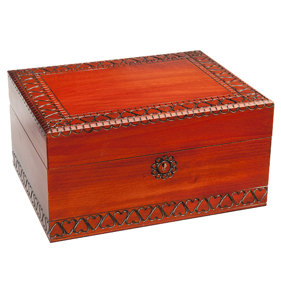 Simple Large Trunk with Lock - Polish Wooden Box