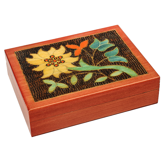 Polish Mountain Flower - Polish Wooden Box