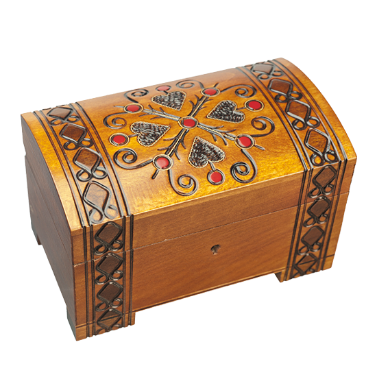 Hearts & Diamonds - Polish Wooden Box