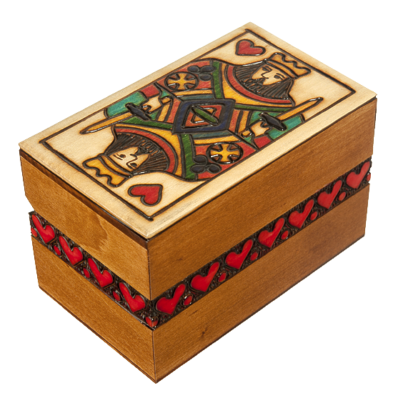 King of Hearts - Polish Wooden Box