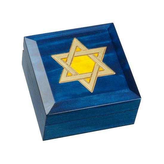 Star of David Large - Polish Wooden Box