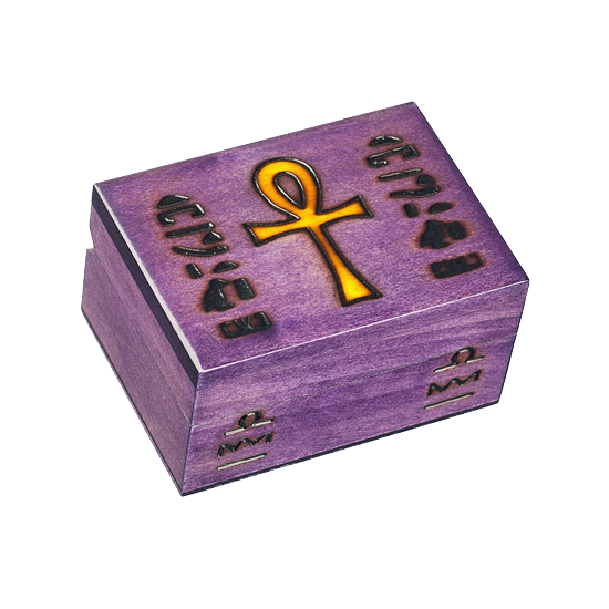 Ankh - New Size - Polish Wooden Box
