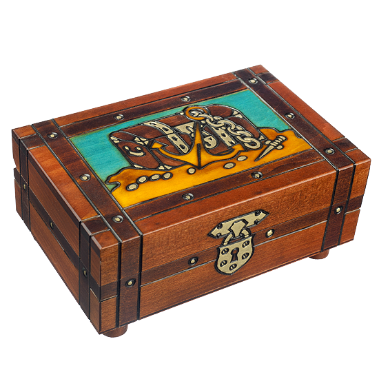 Pirate's Plunders - Polish Wooden Box
