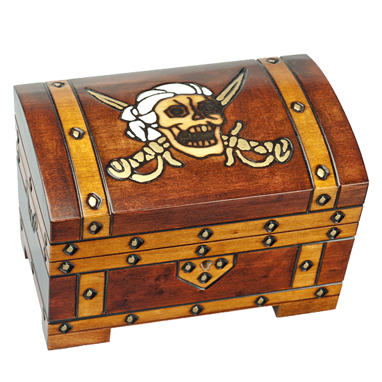 Captain Hook Box - Polish Wooden Box