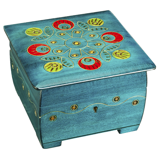 Peacock Chest - Polish Wooden Box