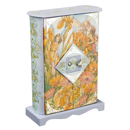 Light Blue Fairy Paper Box - Flat Top