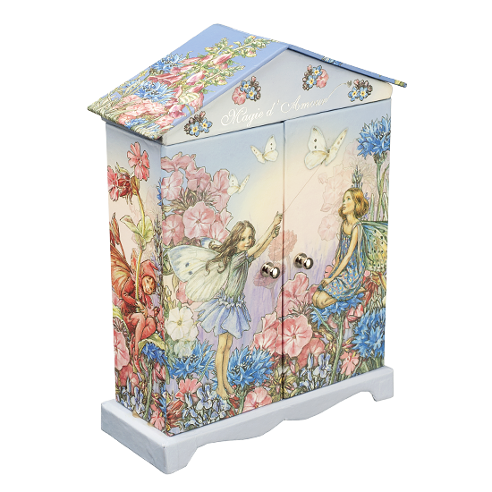 Blue-Purple Fairy Paper Box - Corner Top