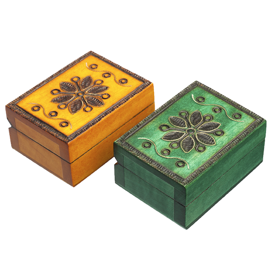 Heritage Floral - Polish Wooden Box