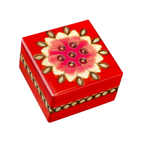 Mystery of the Red Flower - Polish Wooden Box