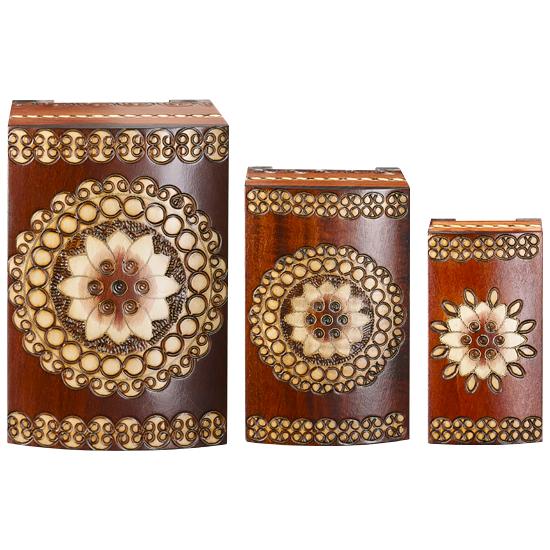 Triptych a la Vintage Florale - Polish Wooden Box