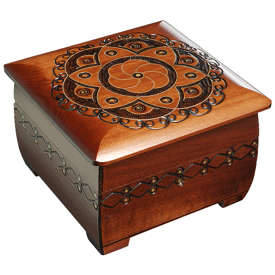 Ornamental Flower Chest - Polish Wooden Box