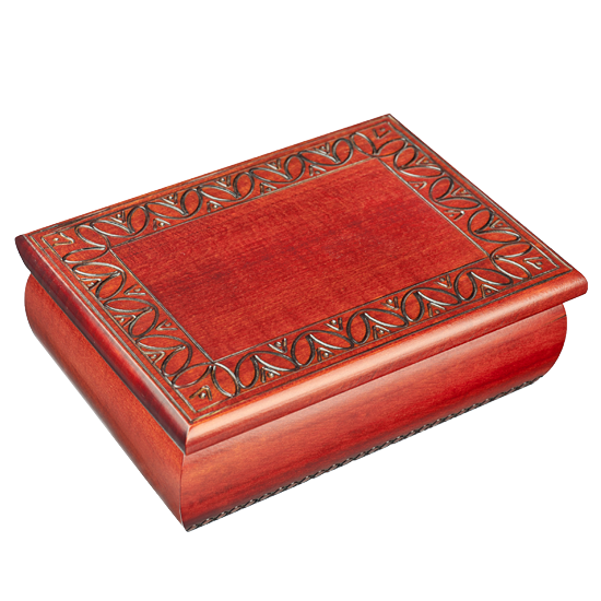 Rounded Square Box - Polish Wooden Box