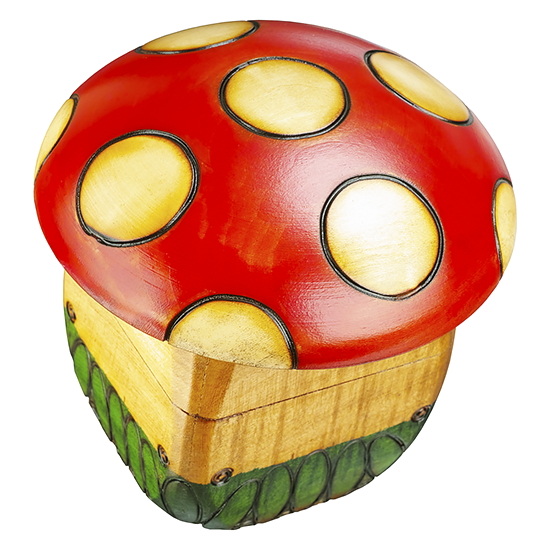 Toadstool Mushroom - Polish Wooden Box