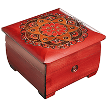 Ornamental Chakra Chest - Red & Orange