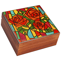 "Stained Rose ""Glass"" Mosaic"