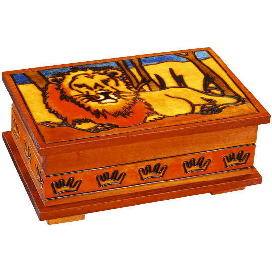 Lion of the Sahara - Polish Wooden Box