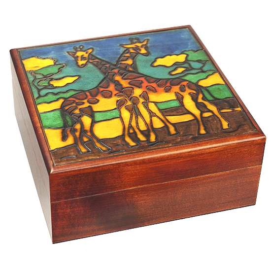 Giraffes - Polish Wooden Box