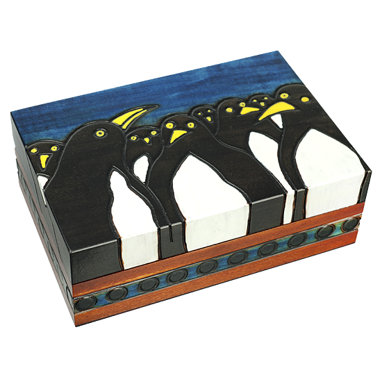 Penguins - Polish Wooden Box