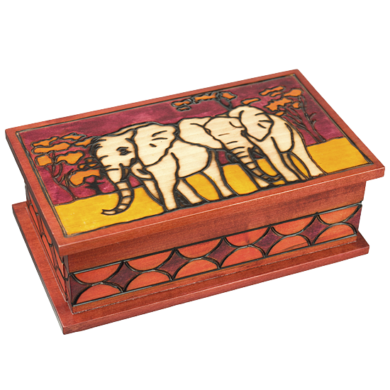Secret Elephants - Polish Wooden Box
