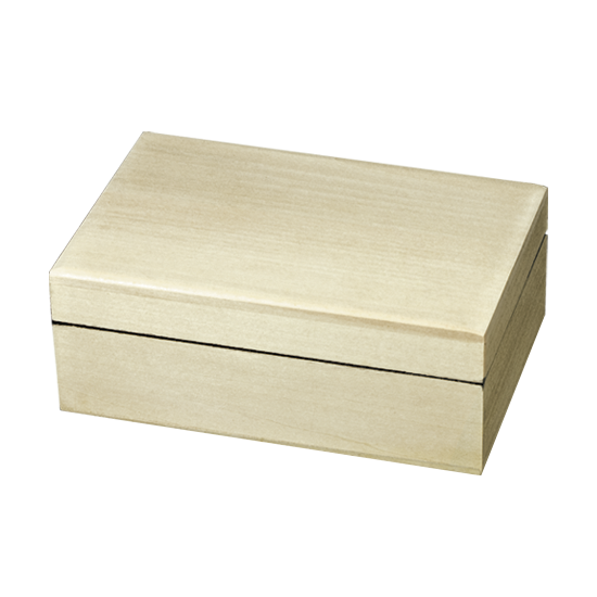 Plain Rectangular Box - Raw Unfinished Wood
