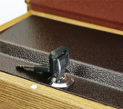 Lock Box Plate & Key Close-up
