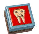 High resolution shot of our boy tooth fairy box