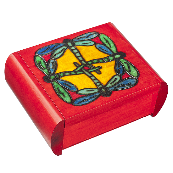 Dragonfly Secret - Polish Wooden Box