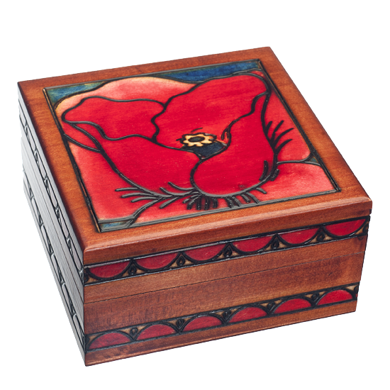 Big Poppy - Polish Wooden Box