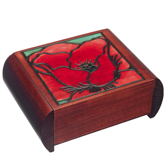 Big Poppy Secret - Polish Wooden Box