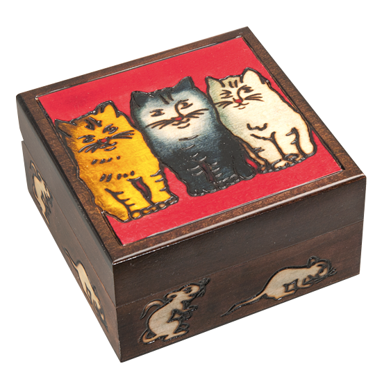 Cats and Mice - Polish Wooden Box
