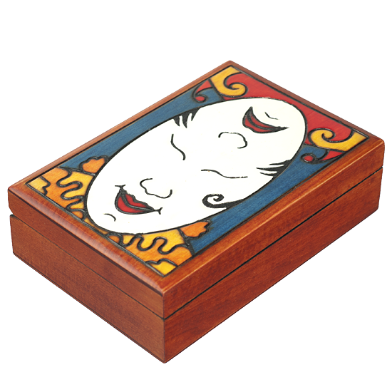 Happy/Sad Face - Polish Wooden Box