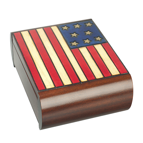 American Flag Secret Box - Polish Wooden Box