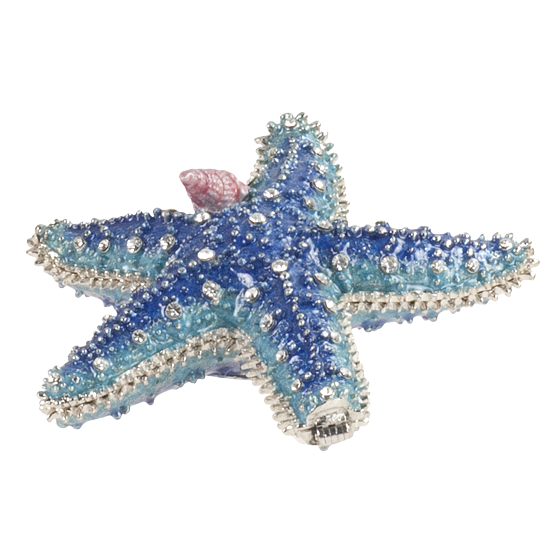 Blue Starfish - Enamel Box