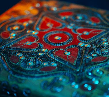 Polish Wooden Box Close-Up
